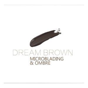 DREAM BROWN 10ml Microblading, OMBRE Rik färg och sitter bra på huden.