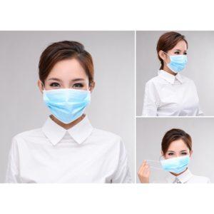Blå engångsmunskydd. Skyddar mot nageldamm och smuts. Bekvämt också för kunden när du jobbar med deras ögon.