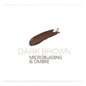DARK BROWN 10ml Microblading, OMBRE Rik färg och sitter bra på huden.
