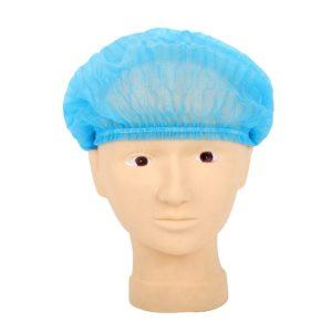 Hårnät blåa. Engångsmössa som skyddar kundens hår och håller det borta från ditt arbete. En storlek för alla.
