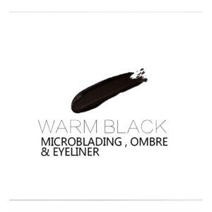 WARM BLACK 10ml Microblading, OMBRE Rik färg och sitter bra på huden.