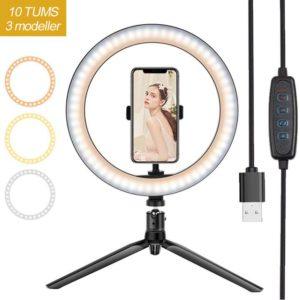 LED Selfie Ring Light. Om du älskar att ta bilder och göra videor, men alltid har svårt att hitta den perfekta belysningen, då är detta produkten för dig.