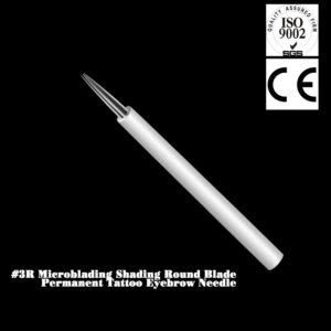 SHADING-NÅL #3R RUND är perfekt för dig som jobbar med ombre bryn eller pulver bryn, passar bra när du tatuerar små detaljer på kanten av brynen.