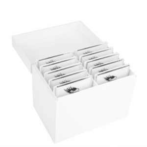 Acrylic Eyelash Storage Box är designad för förvaring av lösfransar för ögonfransförlängning.