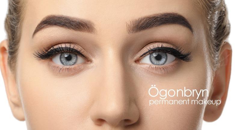 Ögonbryn ombre tatuering permanent make-up