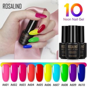 Neon UV LED nail gel 10 colors