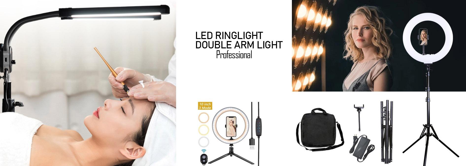 Led ring light för olika skönhetsbehandlingar