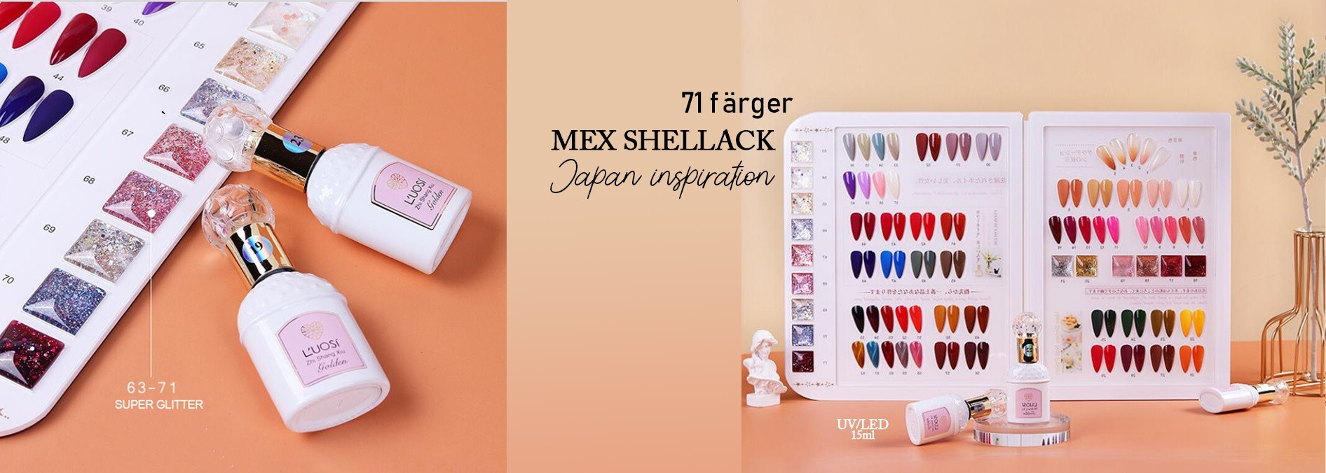 Gellack shellack manikyr nagelprodukter