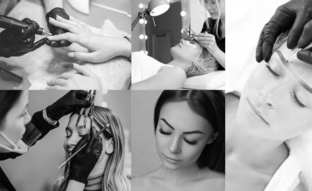 3D ögonbryn fransförlägning naglar skönhetsutbildningar