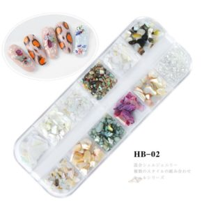12 Colors set Nail Decorations 3D Shiny Abalone Pearl Shell Slice Flake