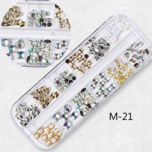 Blandade smycken Strass Pärlor Diamond manikyr M21