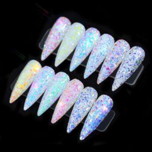 12colors set shiny fakes glitter nail art DBTZ 02a