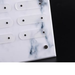 Clear Marble Exclusively Nail Art Display Stand Nail Art Display Board Nail Art A