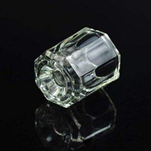 Dish Glass Cup Dapping Dish Nail Crystal Bowl for Acrylic Liquid and Powder A