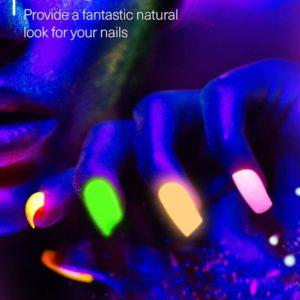 Fluorescent powder nail art Aa