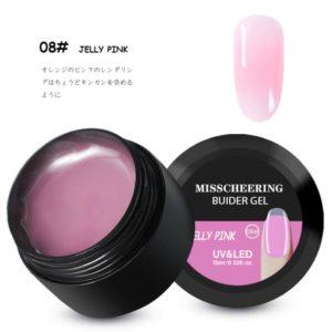 Misscheering uv builder gel Jelly pink