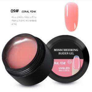 Misscheering uv builder gel coral pink
