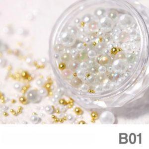 Nail Pearl Beads Mixed Size B 01