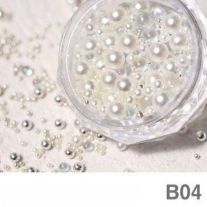 Nail Pearl Beads Mixed Size B 04