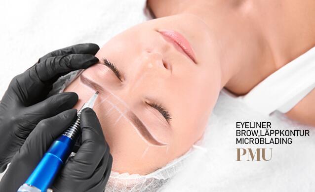 PMU microblading 3d ögonbryn ombre