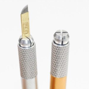 Dubbelhuvud manuell Skaft penna MICROBLADING 1