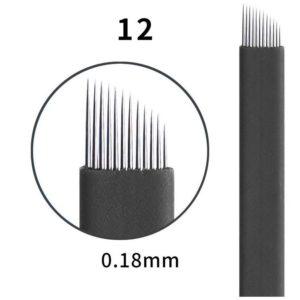 Microblading #12 0.18mm Magic Black Flex Blade