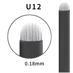 Microblading #12 U 0.18mm Magic Black U Blade