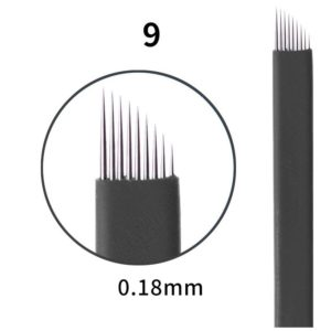 Microblading #9 0.18mm Magic Black Flex Blade