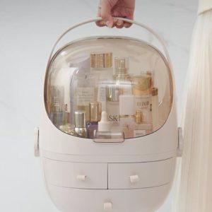 Cosmetiks Makeup Box Sminklåda Beige Pink