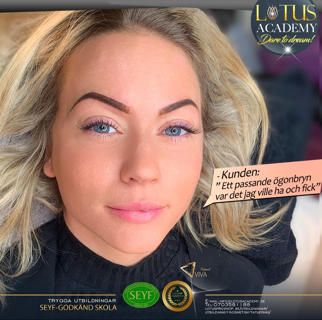 Lär dig Permanent Makeup för ögonbryn i vår utbildning i kosmetisk tatuering.